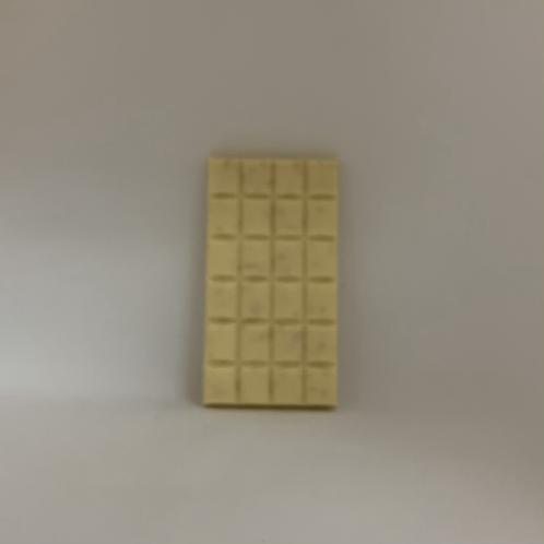 Tablette chocolat belge blanc avec pépites de sucre d'érable