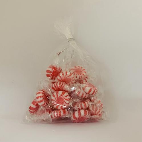 Bonbons menthe rayé rouge