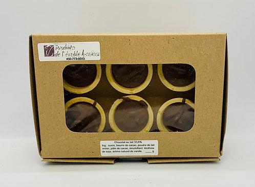 Boîte de 6 cornets de chocolat belge au lait
