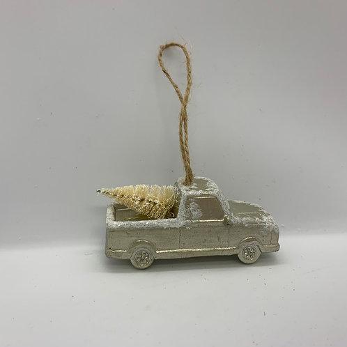 Ornement des fêtes camionnette