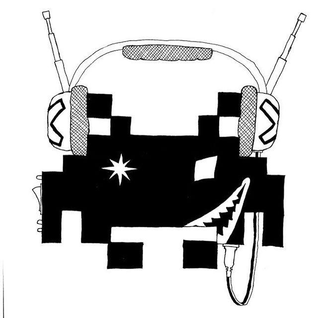 Found this crazy space invader sketch fr