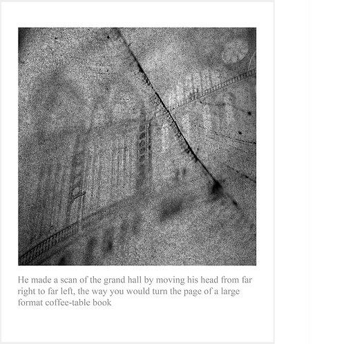 He made a scan of the grand hall