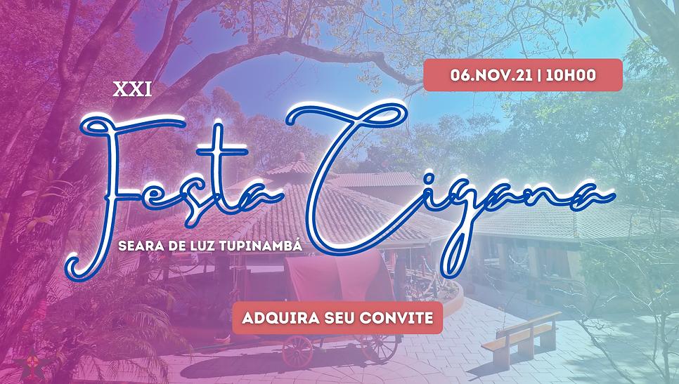 Banner XXI Festa Cigana Seara de Luz Tupinambá