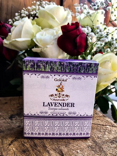Incenso Cone Cascata - Goloka Lavender