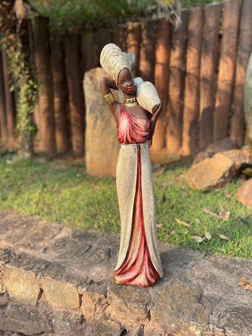 Africana em Pé com Saia - Vermelha
