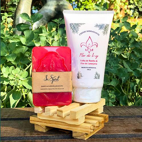 Kit Folha de Bambu e Flor de Laranjeira