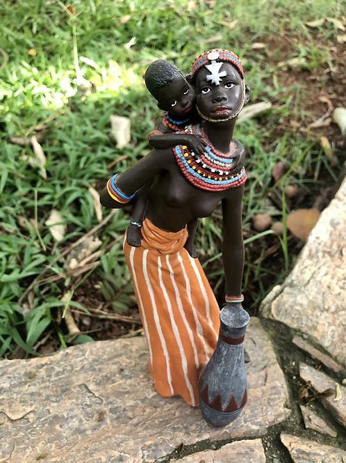 Africana Laranja com criança