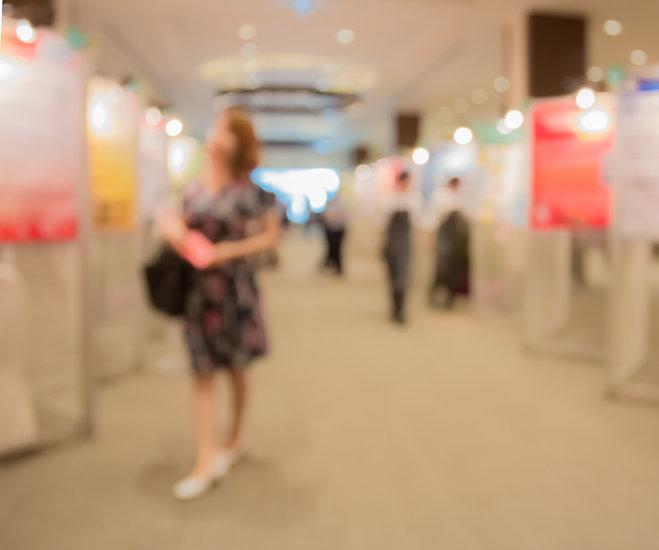 Abstract  blurred poster presentation ev