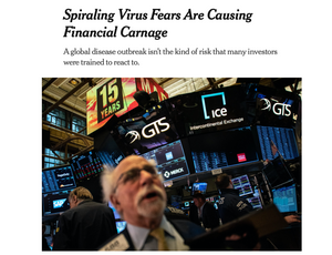 A New York Times headline on March 6, 2020