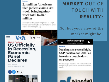 How out of touch with reality are today's stock market numbers?