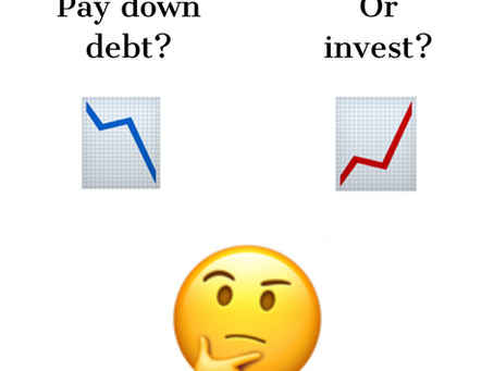 How to think about money: pay off debt or invest, which puts more $ in your pocket?