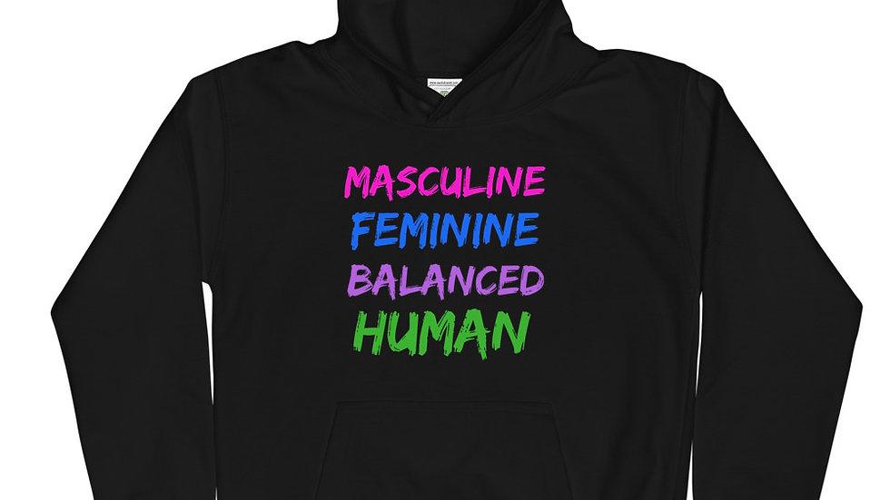Masculine, Feminine, Balanced, Human Youth Hoodie