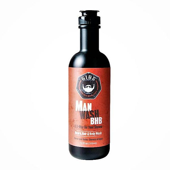 Gibs Man Wash BHB Barbe, Cheveux et corps
