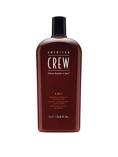 American Crew 3-en-1 Shampooing, revitalisant et gel douche