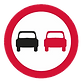 Negative order - no overtaking, UK road sign