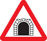 Warning - Tunnel Ahead, UK road sign