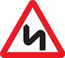 Warning - bends ahead, UK road sign