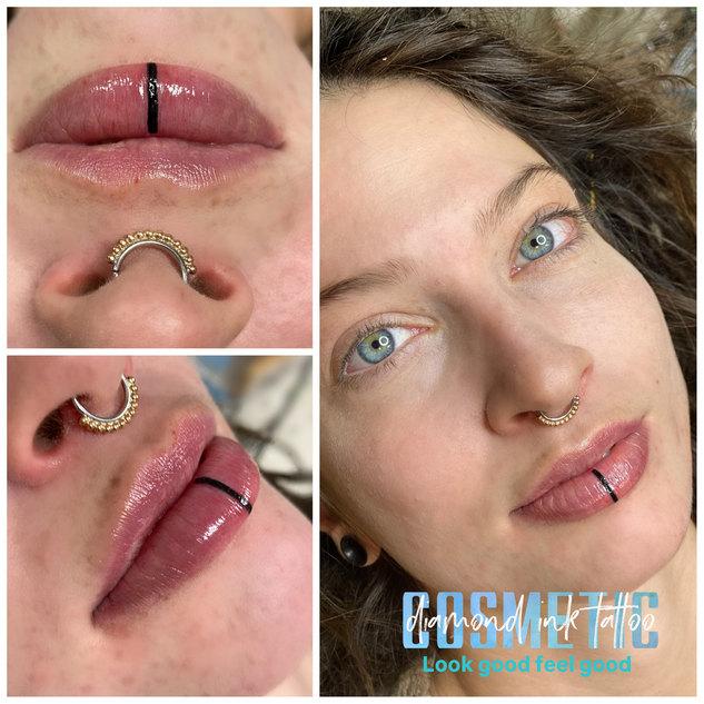 Lip blush with lip art
