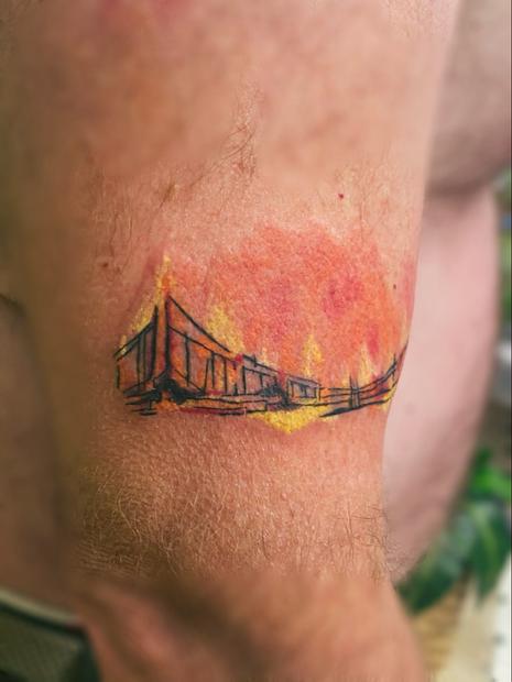 Burning bridge in progress