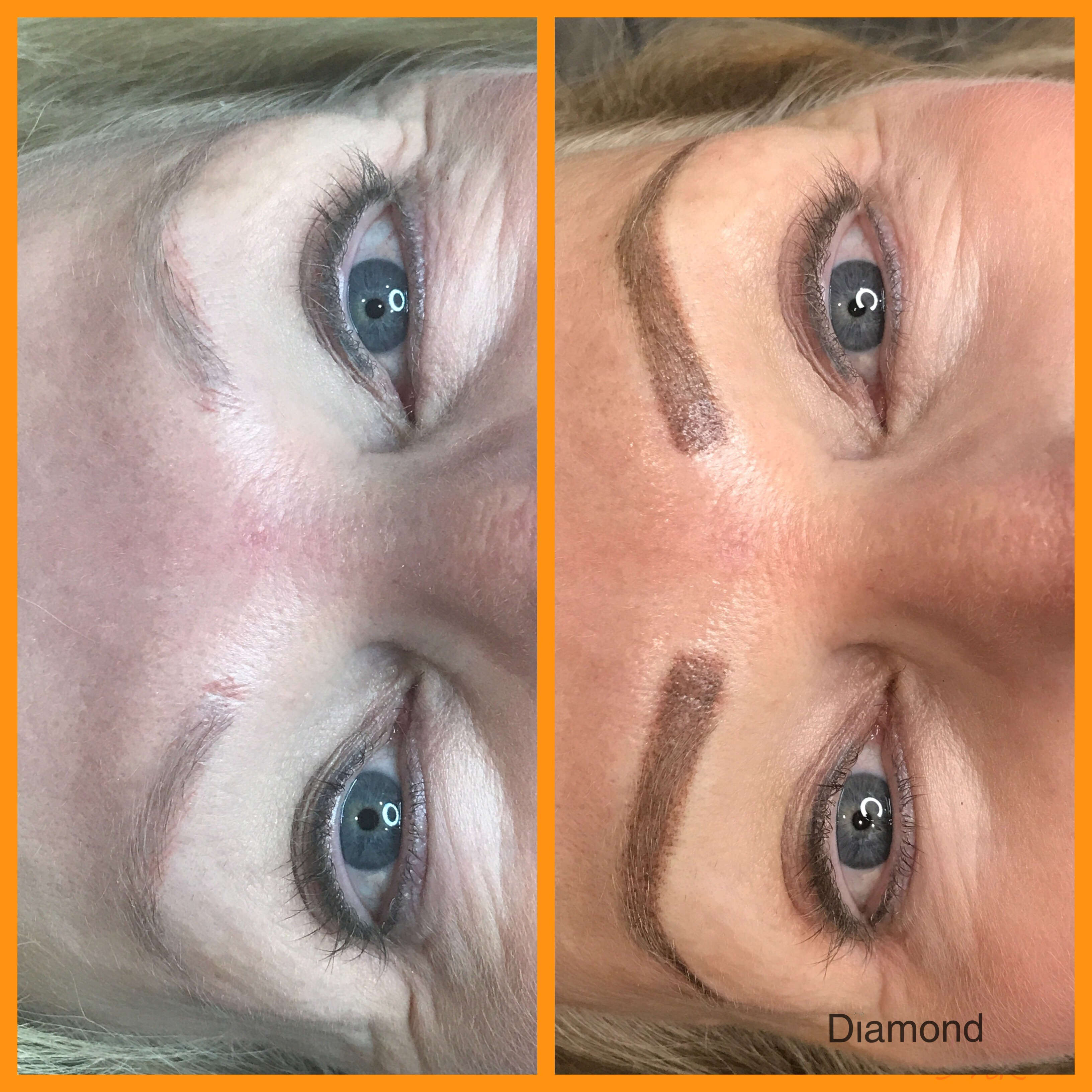 Brow tattoo for blonds!