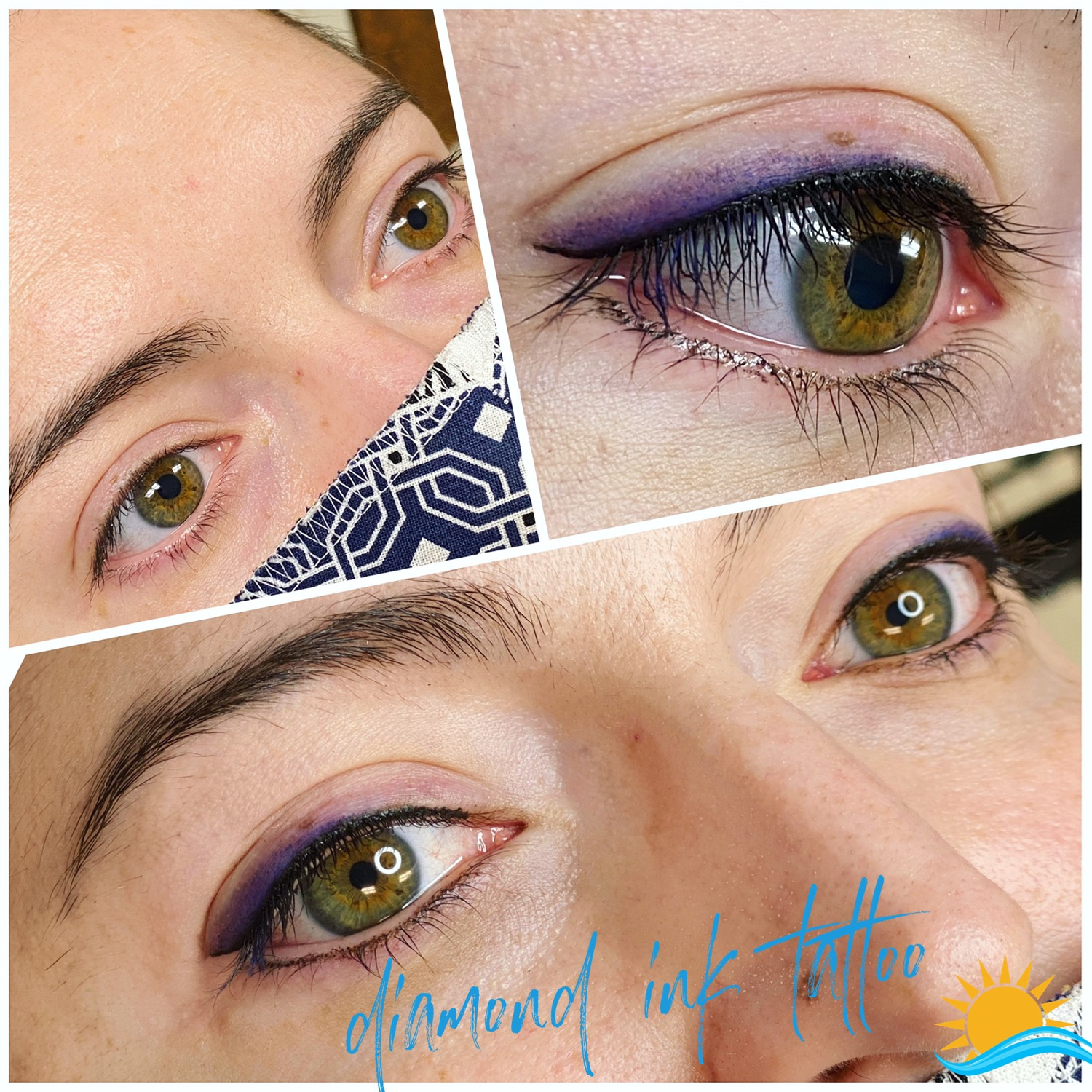 Eyeliner with shadow effect in purple!