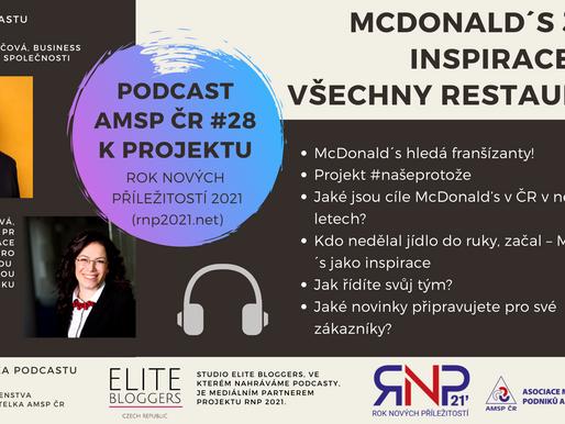 Podcast AMSP ČR #28: McDonald´s jako inspirace pro všechny restaurace