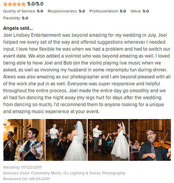 Joel Lindsey Entertainment -  5 Star Review