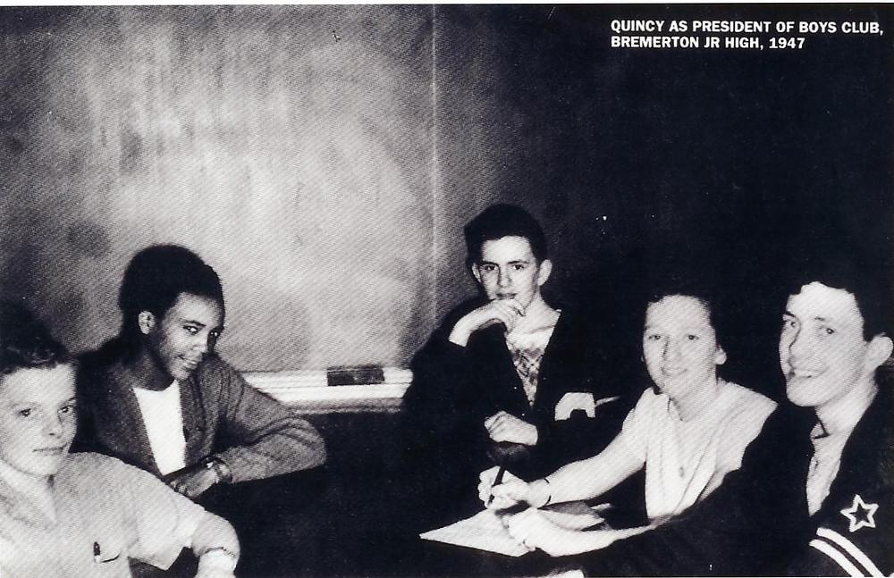 Quincy Jones ar Coontz Junior high
