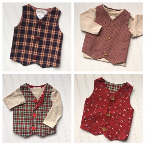 Is there anything cuter than a reversible vest for a handsome little toddler?