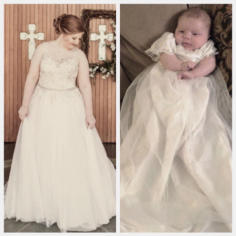 Baby E. Custom wedding to christening gown ~2019
