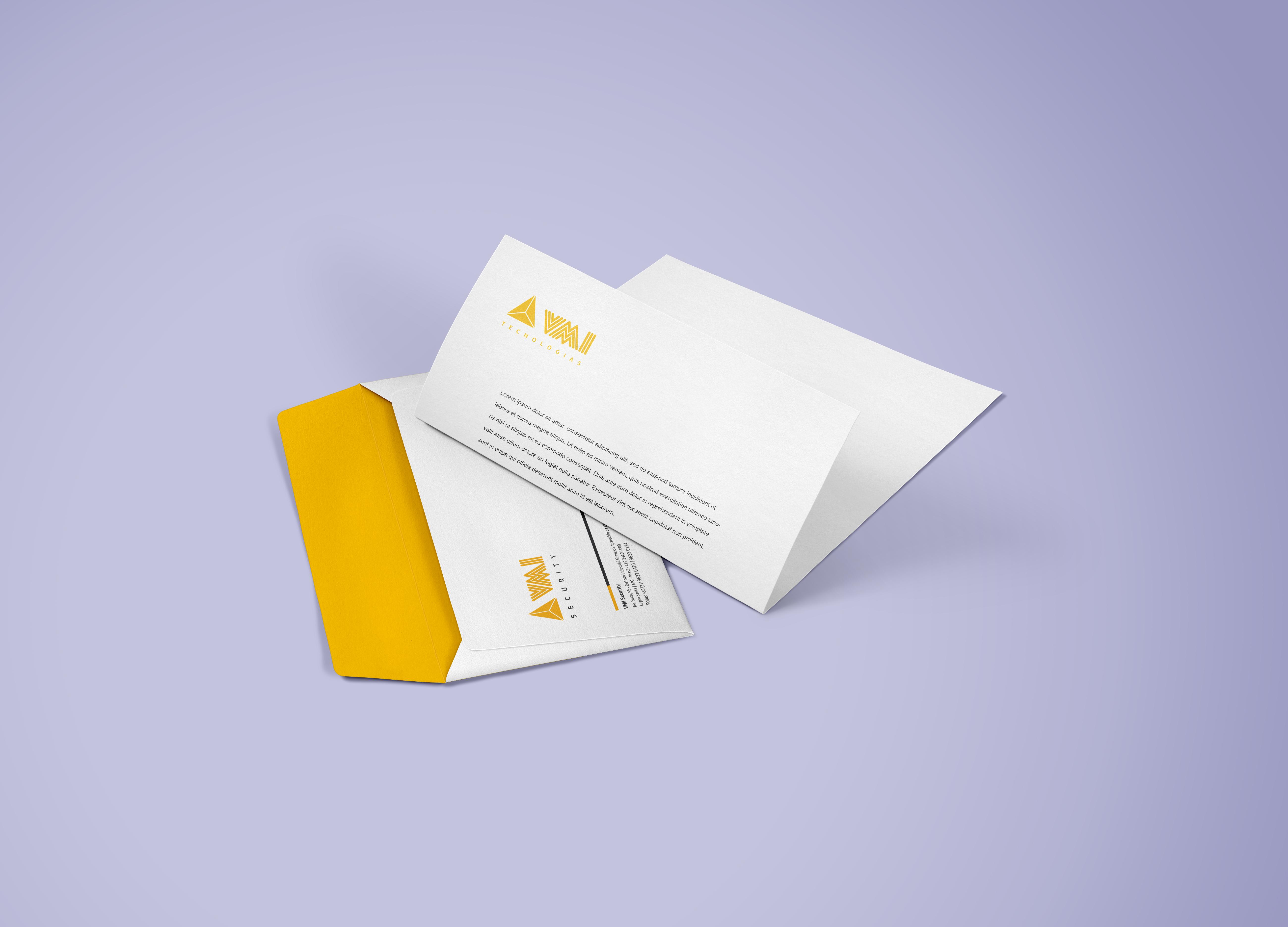 Envelope e Folha timbrada