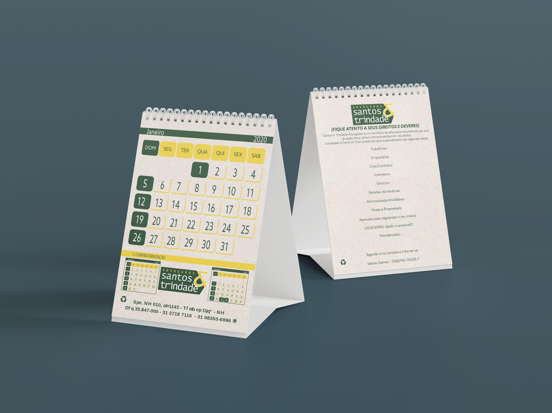 calendário de mesa vertical
