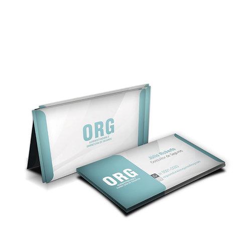 Cartão de Visita Couchê 250g Verniz UV Total Frente Impresso 4 x 4