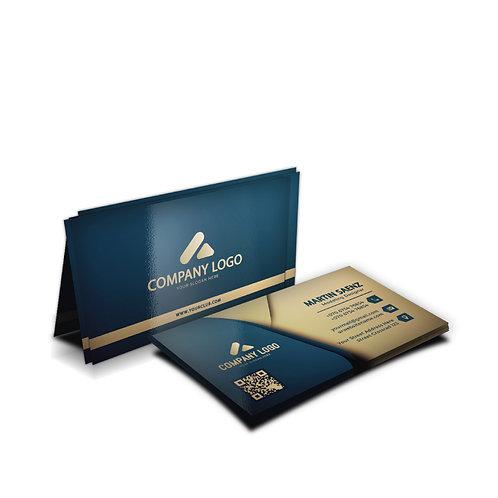 Cartão de Visita Couchê 300g Verniz UV Total Frente Impresso 4 x 4