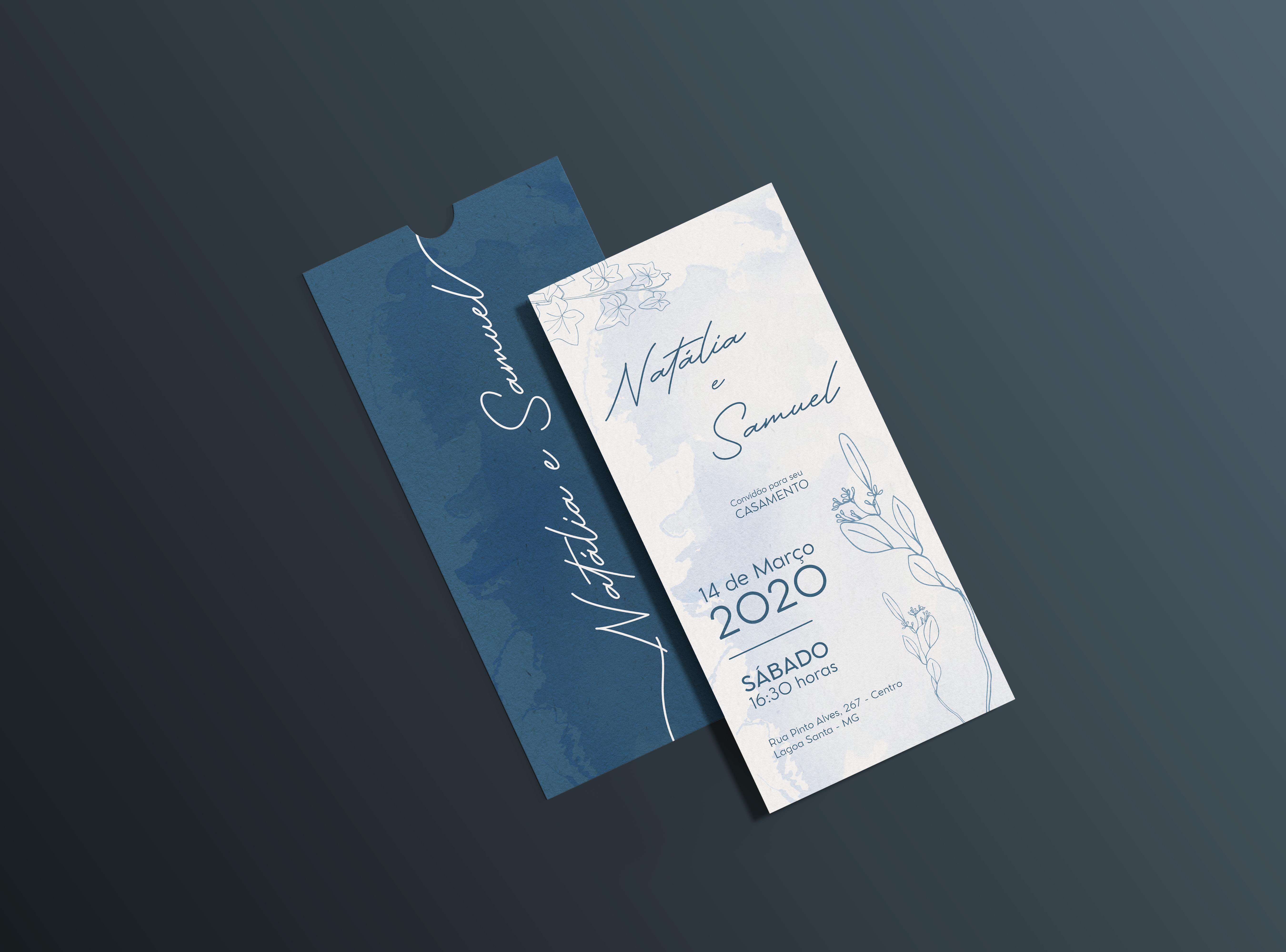 Convite com Envelope vertical