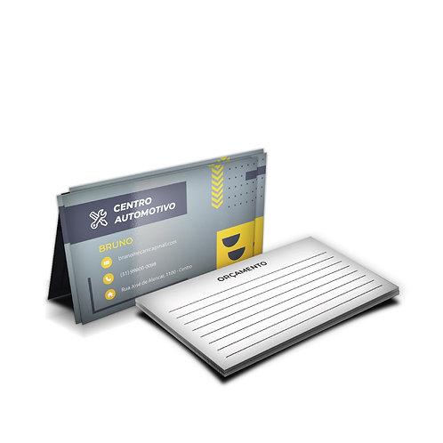 Cartão de Visita Couchê 300g Verniz UV Total Frente Impresso 4 x 1