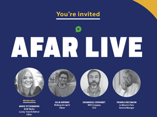 SAVE THE DATE: AFAR Live Media Event