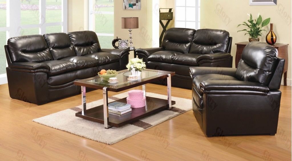 F.W Leather Sofa Set 2pcs $799