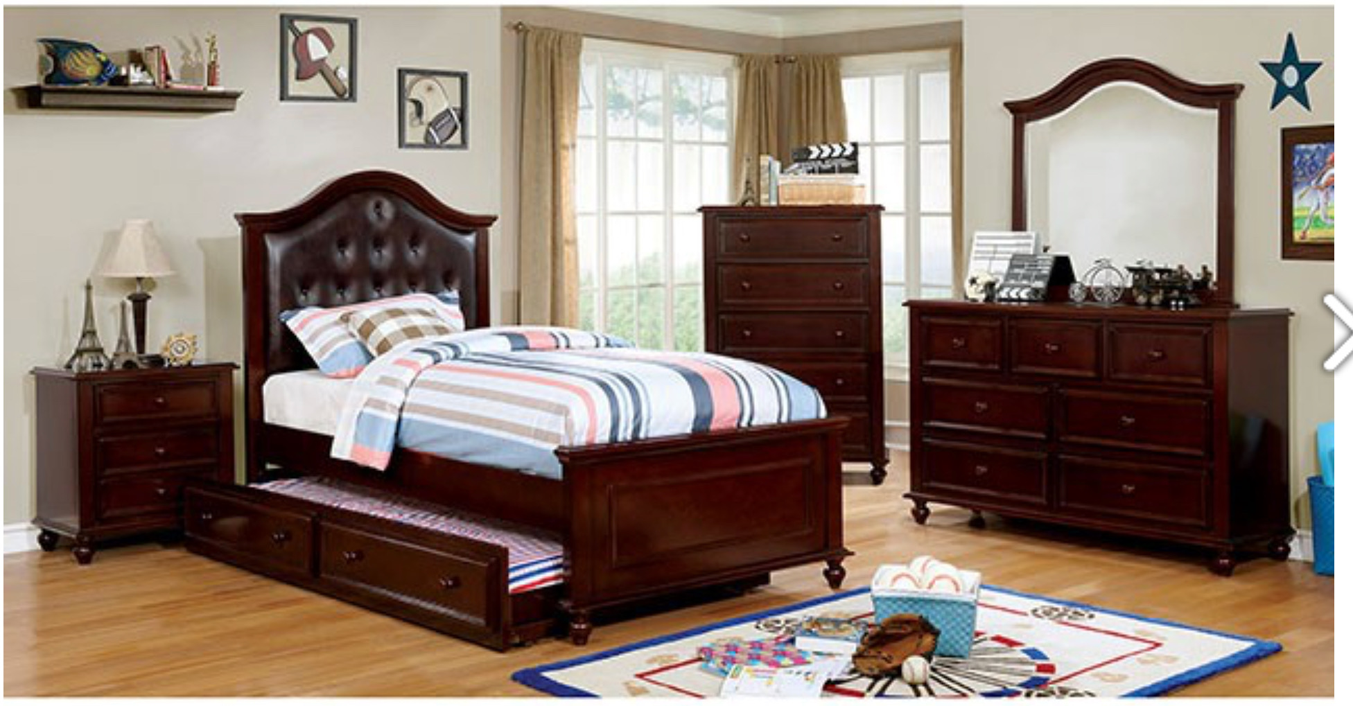 TWIN BEDROOM SET 4PC $1399.