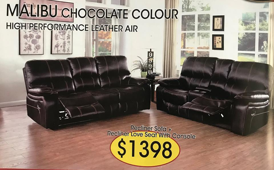 RECLINER SOFA AND LOVE SEAT $1398