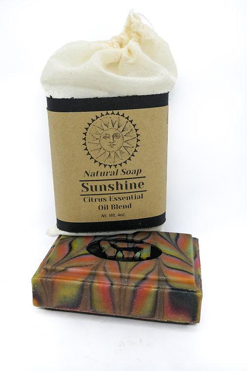 4oz bar of soap Sunshine Citrus Essential Oil blend Plant color