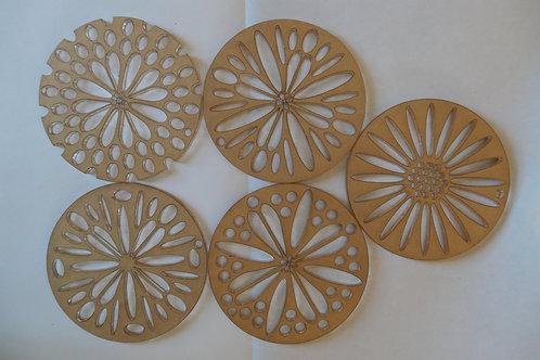 Kaleidoscope Pull Through Soap Tool Technique Discs Flower Set 2.75, 3