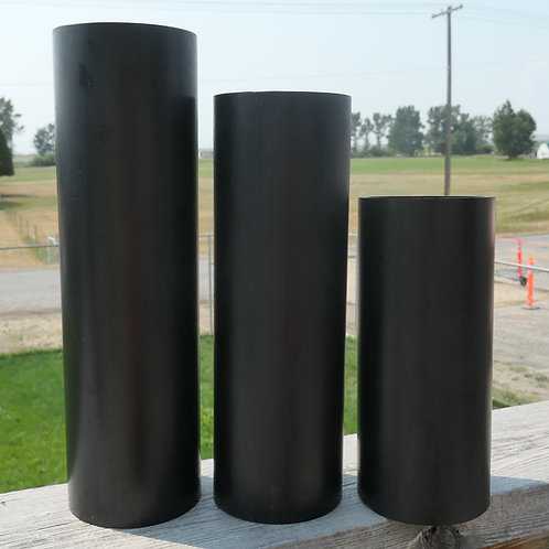 """Vertical Column Mold x2, 3"""" wide  (7.62 cm) 8.5"""", 10.5"""", 12"""" with 2 caps"""