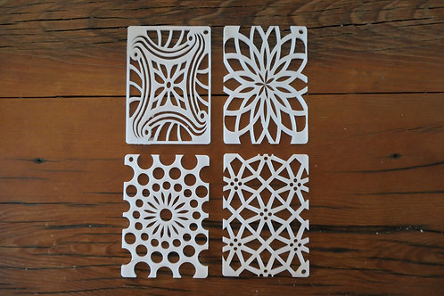 """Kaleidoscope Pull Through Soap Tool Disc for Vertical Column 2.5"""" by 3.5"""" molds"""
