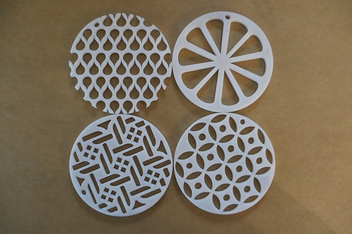 """Kaleidoscope Pull Through Soap Technique 3"""" and 2.75"""" Round Disc"""