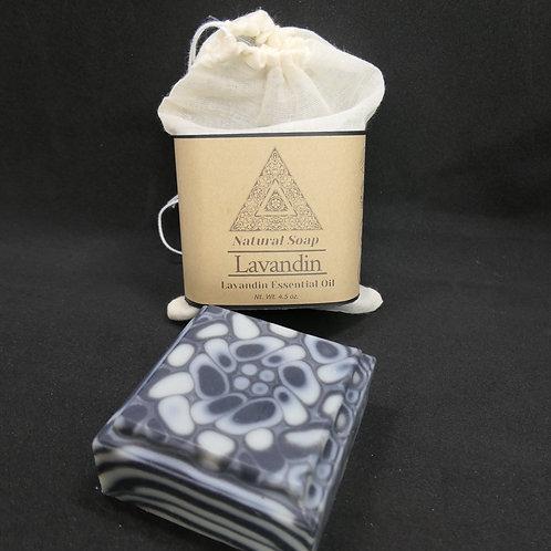 Lavandin Essential oil Natural Soap 4.5 oz. Charcoal