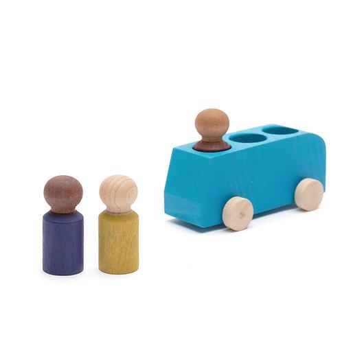 Lubu Wooden Bus - Blue