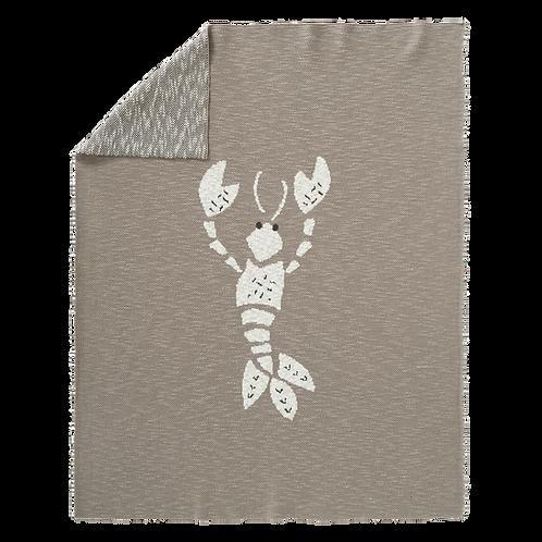 Knitted Blanket - Lobster