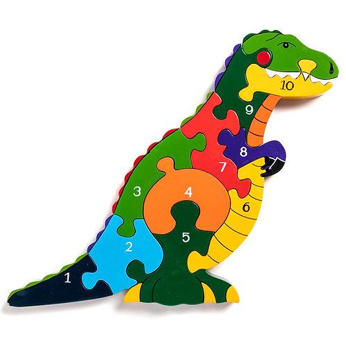 Number T-Rex Jigsaw
