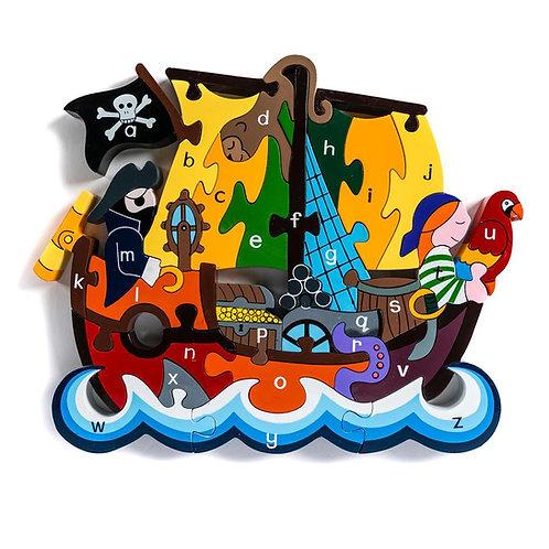 Pirate Ship Alphabet Jigsaw
